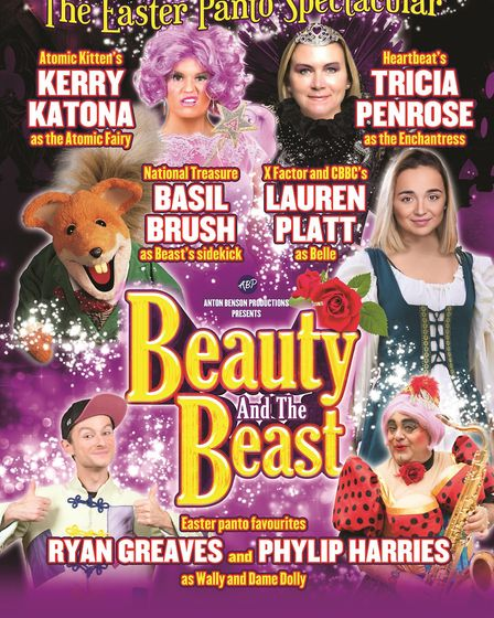 The official poster for the Beauty and the Beast pantomime coming to Clacton in April. Picture: TEND