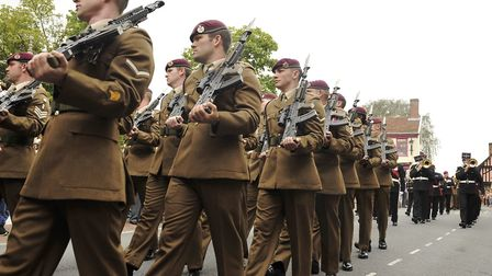 In 2015, the 23 Parachute Engineer Regiment marched through Woodbridge Market Hill to mark 10 years