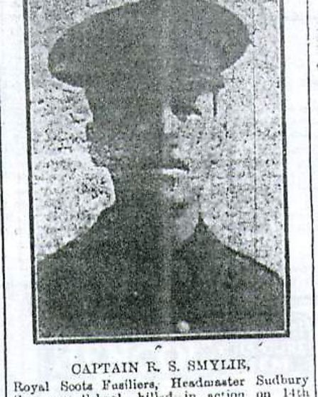 A newspaper cutting reporting the death of Captain Robert Smylie Picture: SUBMITTED BY SELLER