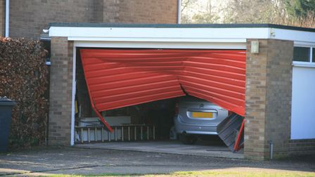 The woman motorist was seen by paramedics but did not require hospital treatment Picture: ARCHANT