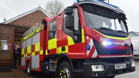 Emergency services were called to the scene in Fornham All Saints near Bury St Edmunds after a woman