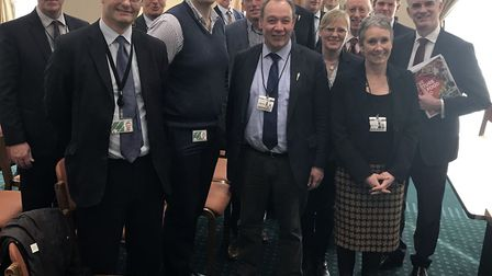 Suffolk National Farmers' Union (NFU) members meeting local MPs and DEFRA officials in Westminster