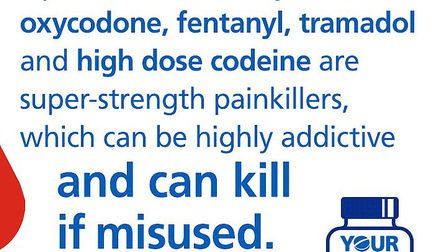 The #opioidaware poster Picture: NHS SUFFOLK