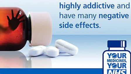 The #opioidaware campaign banner Picture: NHS SUFFOLK