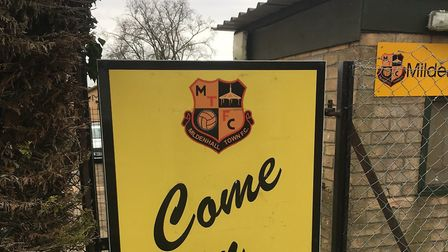 The sign outside Recreation Way, the home of Mildenhall Town FC. Picture: CARL MARSTON