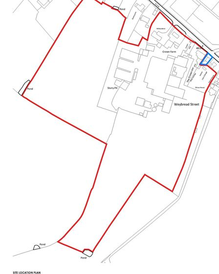 The site plan for the Crown Farm development Picture: CROWN CHICKEN LTD