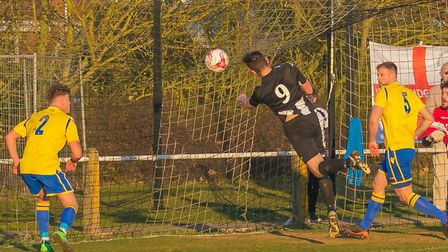 Mark Ray inches away in putting Woodbridge ahead in the second half. Photo: PAUL VOLLER