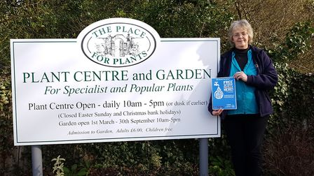 Kerry-Ann from The Place for Plants plant centre showing her support. Picture: RACHEL EDGE
