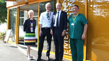 From left, West Suffolk NHS Foundation Trust (WSFT) chairman Sheila Childerhouse, WSFT chief executi