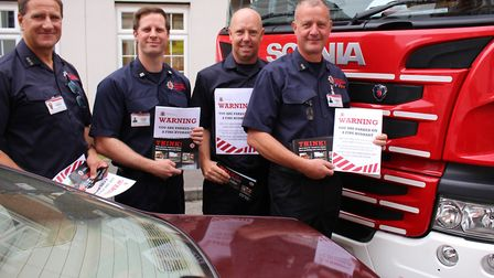 Is your parking putting lives at risk? In August last year firefighters hit out at bad parking Pictu