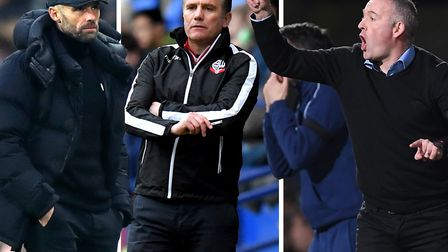 Rotherham's Paul Warne, Phil Parkinson of Bolton and Ipswich Town boss Paul Lambert are fighting to