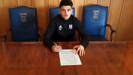 Armando Dobra has signed his first professional deal with Ipswich Town. Picture: ITFC