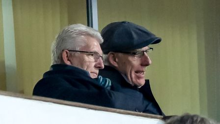 Fomer Town manager Mick McCarthy (on the right) was back at Portman Road for the second time in a we