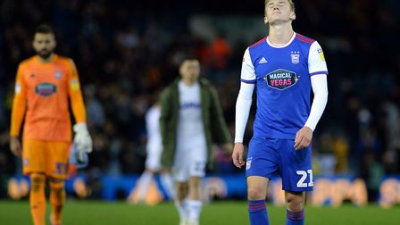 Flynn Downes after the final whistle at Elland Road Picture Pagepix