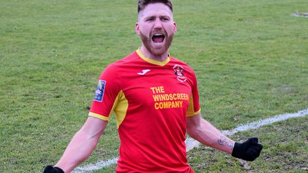 John Sands, who could provide the firepower to keep Mildenhall Town up over the next two months. Pic