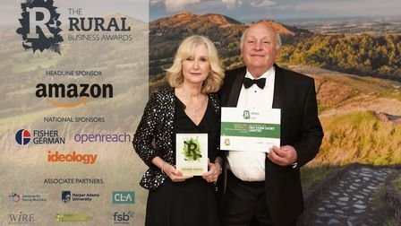 Best Rural Manufacturing Business Winner Fen Farm Dairy Limited's Frances and Graham Crickmore Pict