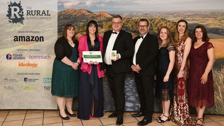 Best Rural Professional Services Business runner-up Appetite Me's Sally Wooldridge, Shelly Tate, Rob