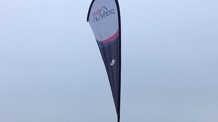 The familiar parkrun sign, welcoming runners and walkers to last Saturday's Great Denham parkrun. Pi