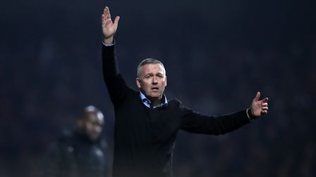 Ipswich Town manager Paul Lambert. The Blues are nine points adrift of safety at the foot of the Cha