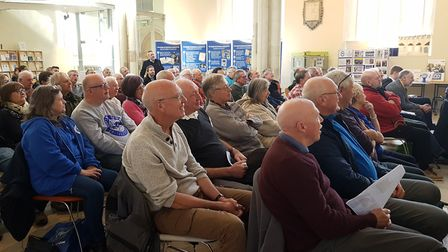 More than 60 guests filled the Sporting Memories Suffolk Celebration Event at Quay Place with Terry