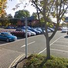 The middle car park at Kingfisher Leisure Centre in Sudbury is currently out of use after travellers