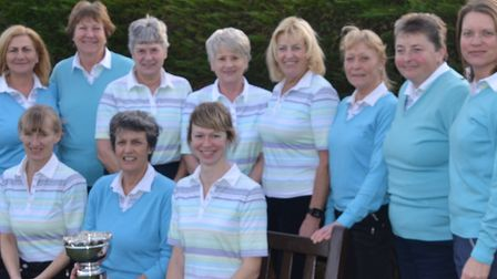 Members of the Ipswich Ladies' Weston Trophy squad who won the trophy for a record seventh successiv