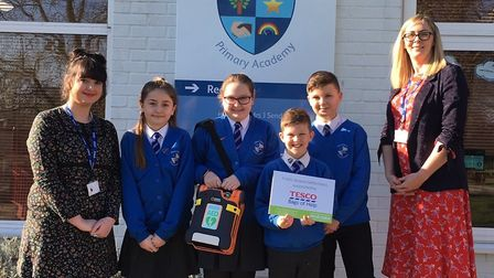 Left to right: Sian Connaughton (staff member), Kacie Payne, Jessica Butcher, Finley Hopkins and Alf