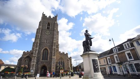 St Peter's church in Sudbury town centre. Picture: GREGG BROWN