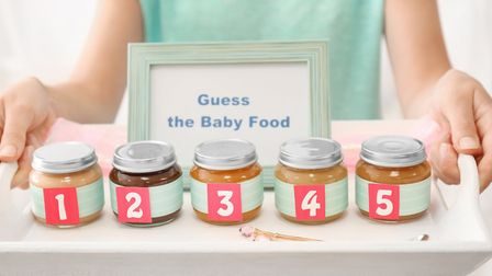 Baby shower game - guess the baby food. Picture: Getty Images/iStockphoto