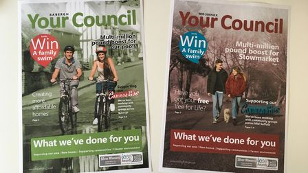 The Your Council magazines issued by Babergh and Mid Suffolk district councils. Are they electioneer