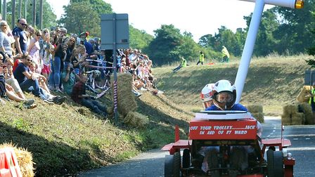 The first West Suffolk Hospital MyWiSH Charity Soapbox Challenge took place last year Picture: ANDY