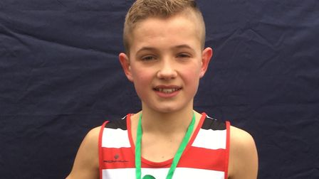 Lewis Sullivan, who was an excellent fourth in the under-15 boys race at Leeds.