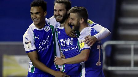 Nick Powell (centre) was a key man for Wigan Athletic in the first part of the season. He returned t