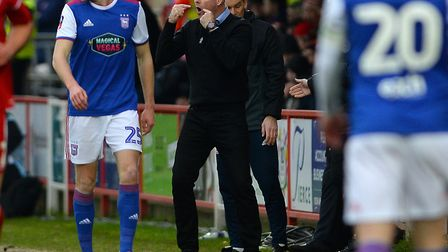 Ipswich Town manager Paul Lambert is banned from the touchline for the crunch game Reading. Photo: P