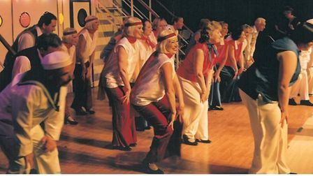 """Yvonne dancing in """"Anything Goes"""" (2002) Picture: SUDBURY MUSICALS SOCIETY"""