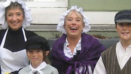 """Yvonne publicising """"Oliver!"""" (2008) Picture: SUDBURY MUSICALS SOCIETY"""