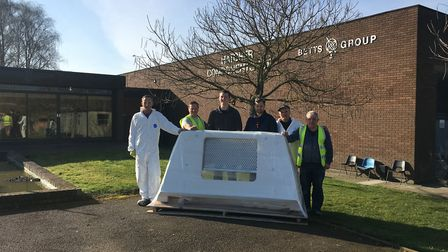 Some of the team at Hatcher Components, Framlingham. The Suffolkl company is working hard to elimina