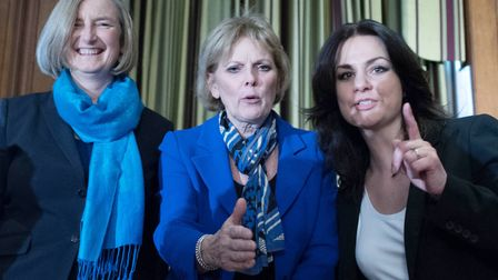 Conservative MPs (left to right) Sarah Wollaston, Anna Soubry and Heidi Allen who have joined The In
