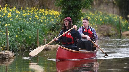 Matt Gaw in the rear of the canoe with friend and co-adventurer James Treadaway. Matt is author of P