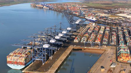 Britain's busiest container port, Felixstowe Picture: MIKE PAGE / COURTESY OF THE PORT OF FELIXSTOWE