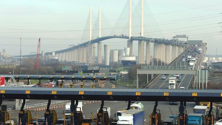 One tunnel on the Dartford Crossing was closed on Sunday morning.