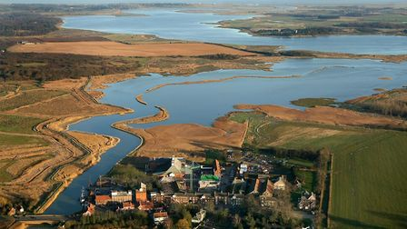 The Alde and Ore estuary stretching from Snape Maltings to the sea Picture: MIKE PAGE