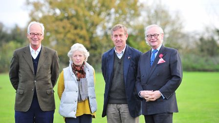 Supporters of the Alde and Ore estuary project - left to right: Richard Davey, Jane Maxim, Edward Gr