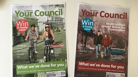The Your Council magazines issued by Babergh and Mid Suffolk district councils. Picture: JASON NOBLE