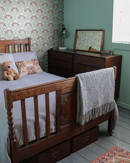 Woodbridge blogger Cassie Fairy's arts and crafts inspired bedroom makeover Picture: CASSIE FAIRY