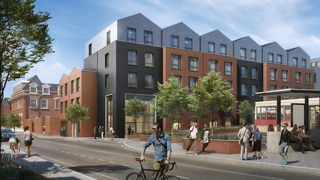 An artist impression of how Braintree town centre could look if the regneration scheme gets the go-a