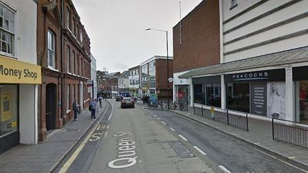A man in his 20s was assaulted in Queen Street in Colchester Picture: GOOGLEMAPS