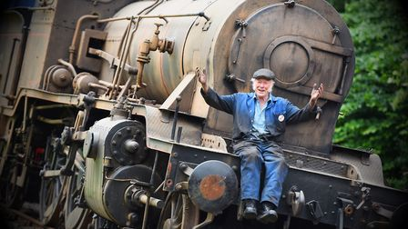 Train driver Peter Vine from Bressingham Steam and Gardens Picture: GREGG BROWN