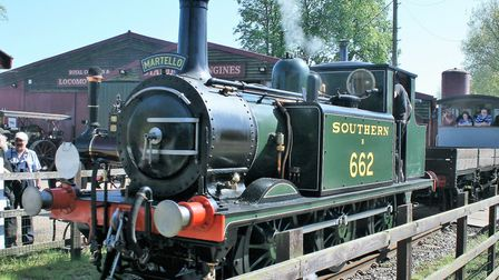 Southern engine Martello usually operates at Bressingham - but next weekend will be visiting the Nen