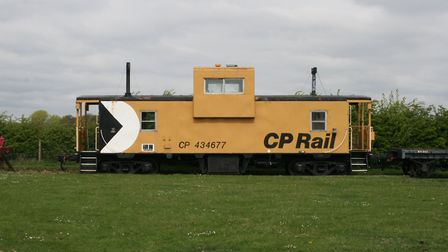 This Canadian caboose is one of the more unusual exhibits at the Mangapps Railway Museum near Burnha